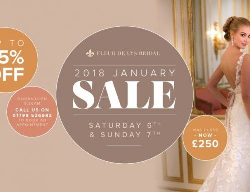 Save up to 75% on wedding dresses at our January 2018 Sale!