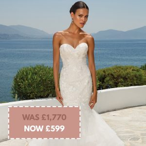Justin Alexander 8915 size 18 Champagne/Ivory including veil (combined price) Was £1520 Dress £250 Veil Now £599
