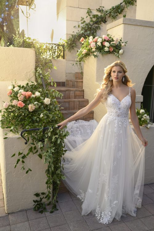 7083-Stella York French Lace Wedding Dress