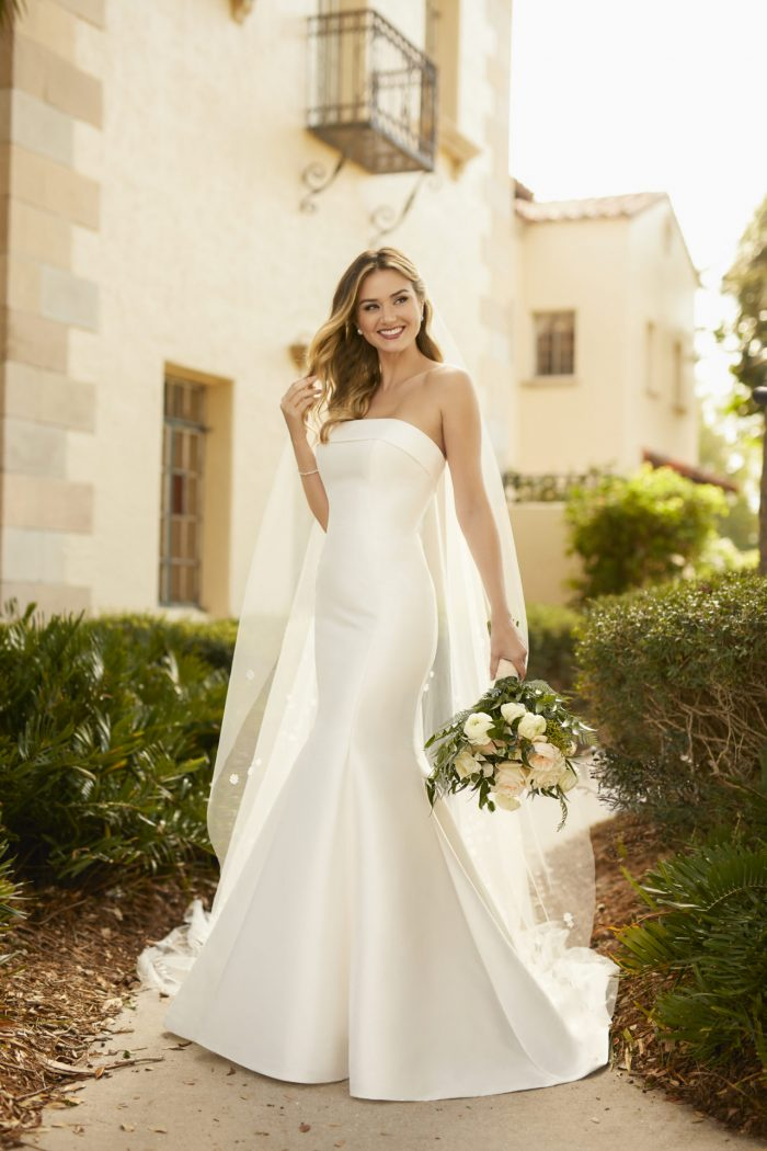 7099-Stella York Fit and Flare Wedding Gown