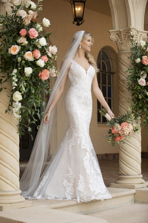 7100-Stella York Fit and Flare Wedding Dress