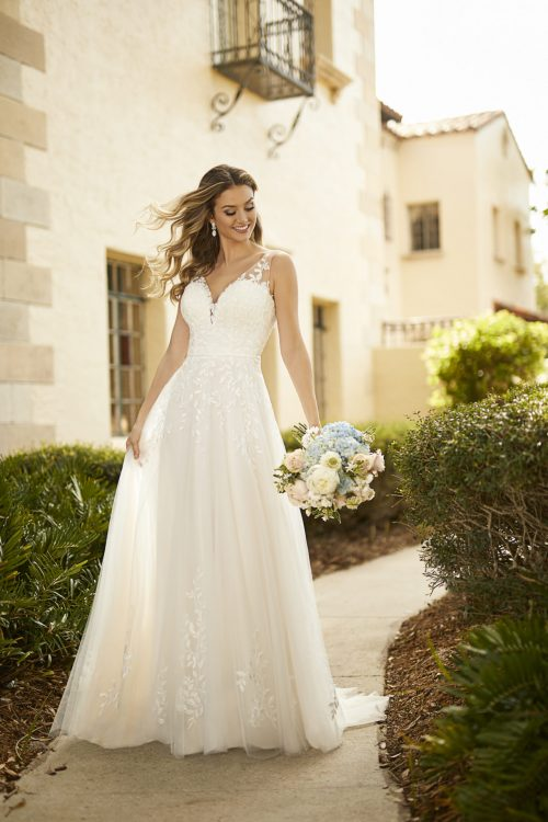 7161-Stella York A-Line Wedding Gown