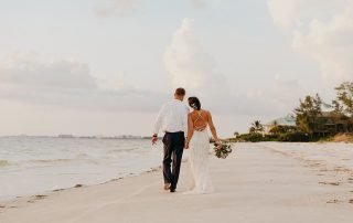 Perfect Sunset Destination Beach Wedding